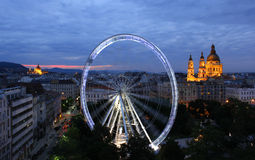 Ferris wheel in Budapest Stock Image