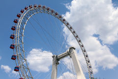 Ferris wheel. A built in china tianjin city, ferris wheel, called the eye of tianjin royalty free stock image