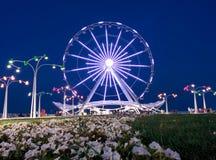 Ferris wheel on bulvar . Stock Image