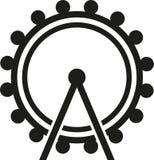 Ferris wheel button. Fun vector Royalty Free Stock Image