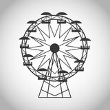 Ferris wheel of carnival design. Ferris wheel icon. Carnival festival fair circus and celebration theme. Isolated and silhouette design. Vector illustration Stock Photography