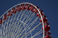 Ferris Wheel at Carnival Fair on Navy Pier Chicago Royalty Free Stock Images