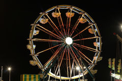 Ferris wheel. A carnival ferris wheel at night stock image