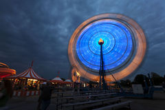Ferris wheel at the carnival at night Royalty Free Stock Photos