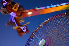 Ferris wheel and carnival ride Royalty Free Stock Photo