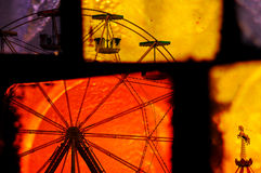 Ferris wheel carousel abstraction Stock Photography