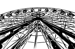 Ferris wheel Carousel in the lunapark Royalty Free Stock Photo