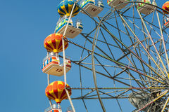 Ferris wheel with carriages. Royalty Free Stock Images