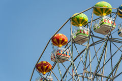 Ferris wheel with carriages. Stock Photos