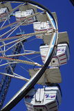 Ferris wheel cars spin upward. George Washington Ferris, a civil engineer from Illinois, invented the Ferris wheel in the 1890's. The first steel Ferris wheel stock photography