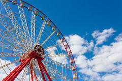 Ferris wheel on celestial background Royalty Free Stock Images