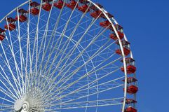 Ferris wheel in Chicago. Picture of the Navy Pier ferris wheel in Chicago, Illinois, USA Stock Photography