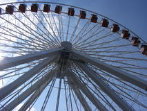 Ferris Wheel Chicago Illinois Navy pir Royaltyfri Foto