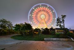The ferris wheel in the children's Park. Nanning, Guangxi, China Royalty Free Stock Photo