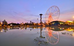 The ferris wheel in the children's Park. Nanning, Guangxi, China Stock Photo