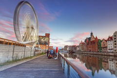 Ferris wheel in the city centre of Gdansk Stock Photography