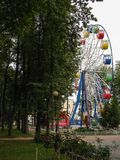 Ferris wheel in a city Park of the city of Kaluga. Royalty Free Stock Photography