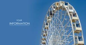 Ferris wheel city sky landmark pattern. Modern blue Royalty Free Stock Photo