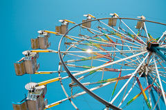 Ferris Wheel in Clear Blue Sky Stock Image