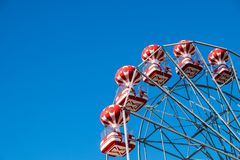 Ferris wheel with clear blue sky. Photo taken in Herastrau Park in Bucharest, Romania Stock Images
