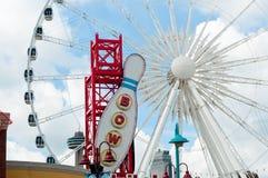 Ferris Wheel in Clifton Hill, Niagara Falls, Ontario Stockbilder