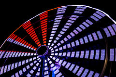 Ferris Wheel Close Up View at Night Stock Images