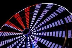 Ferris Wheel Close Up View på natten Arkivbilder