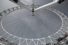 Ferris wheel closeup, desaturated image. Royalty Free Stock Image