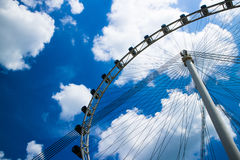 Ferris wheel and cloud blue sky Stock Images