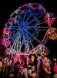 Ferris wheel. Color in the dark bangkok thailand Royalty Free Stock Image