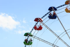 Ferris wheel colorful cabs Royalty Free Stock Photos
