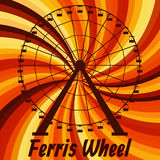 Ferris wheel. Colorful poster. Royalty Free Stock Images