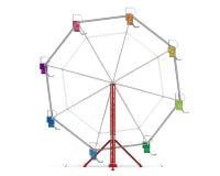 Ferris Wheel colorido Fotografía de archivo libre de regalías