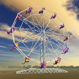 Ferris wheel. Computer generated 3D illustration with a ferris wheel Royalty Free Stock Photography