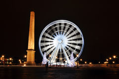 Ferris wheel on Concorde Square, Paris Royalty Free Stock Photos