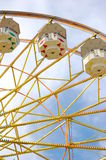 Ferris wheel at county fair. Person waving from top of ferris wheel at county fair Stock Photos