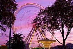 Ferris wheel at county fair, Germany. Ferris wheel at county fair, Karlsruhe, Germany Royalty Free Stock Photos