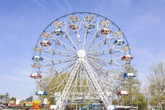 Ferris wheel. At the county fair with the sky in the background Royalty Free Stock Images
