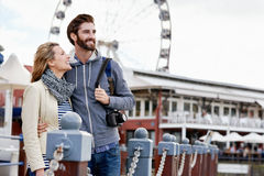 Ferris wheel couple Stock Image