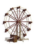 Ferris Wheel. 3D digital render of a vintage ferris wheel isolated on white background Stock Photos