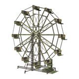 Ferris Wheel. 3D digital render of a vintage ferris wheel isolated on white background Royalty Free Stock Photos