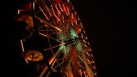 Ferris Wheel In The Dark stock video