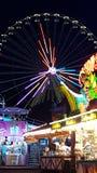 Ferris Wheel In The Dark fotografie stock