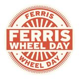 Ferris Wheel Day rubber stamp. Vector Illustration Stock Photography