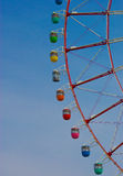 Ferris Wheel daytime. Ferris wheel during the day in Odiba Tokyo Japan Royalty Free Stock Image