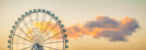 Ferris Wheel de Málaga fotografía de archivo libre de regalías