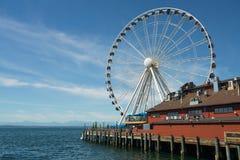 Ferris Wheel de Seattle imagenes de archivo