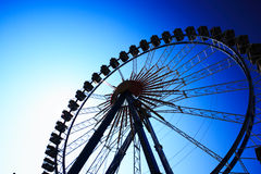 Ferris wheel deep blue Royalty Free Stock Photo