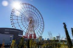 Ferris Wheel an der Paletten-Stadt Stockbild