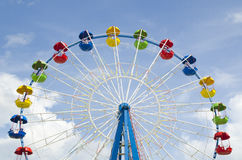 Ferris wheel detail on a blue sky Stock Photography